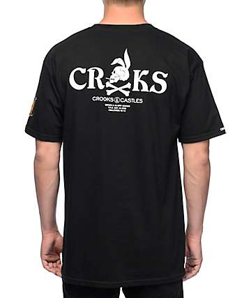 Crooks and Castles Rider Black T-Shirt