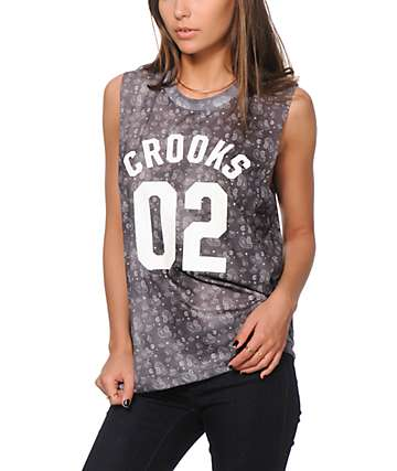 Crooks and Castles Squad Love Bandana Sublimated Muscle Tank Top
