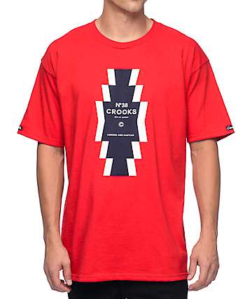 Crooks and Castles Tribe Red T-Shirt