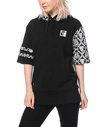 Crooks and Castles Vamp Oversized Short Sleeve Hoodie