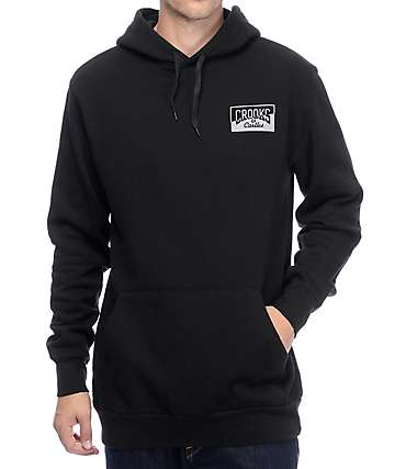 Crooks and Castles Worldwide Black Hoodie