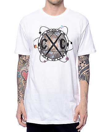 Cross Colours ATOM Scalloped White T-Shirt