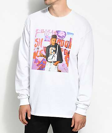 Cross Colours Fresh Legends White Long Sleeve T-Shirt