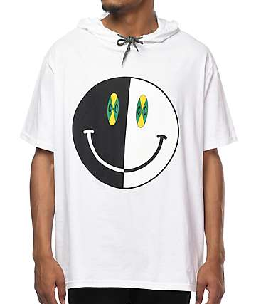 Cross Colours Happy Face White Hooded T-Shirt