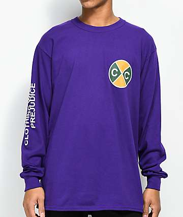 Cross Colours Reality Purple Long Sleeve T-Shirt
