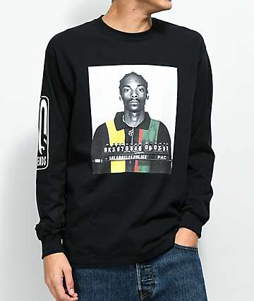 Cross Colours Snoop Mug Black Long Sleeve T-Shirt