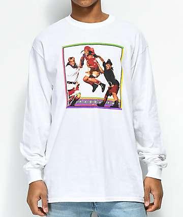 Cross Colours TLC Jump White Long Sleeve T-Shirt