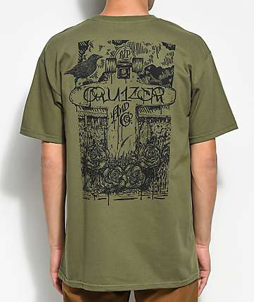 Cruizer & Co. Crow Olive T-Shirt
