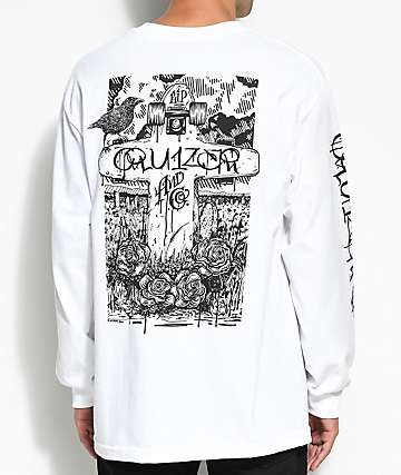 Cruizer & Co. Crow White Long Sleeve T-Shirt