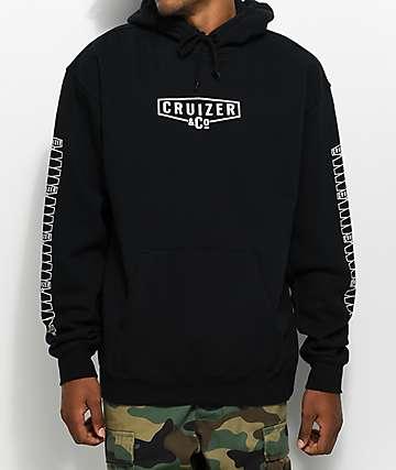Cruizer & Co. New Corp sudadera negra con capucha