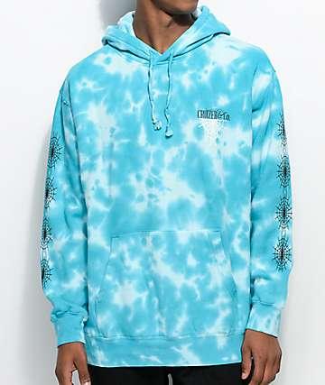 Cruizer & Co. New Web Blue Tie Dye Hoodie