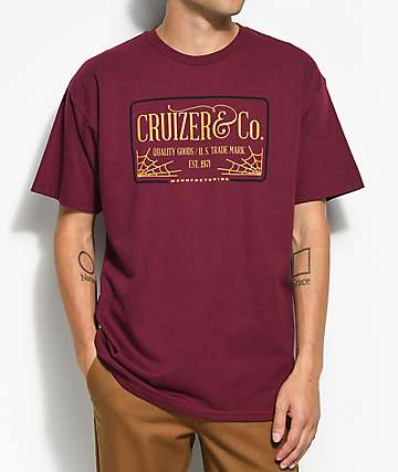 Cruizer & Co. Web Burgundy T-Shirt