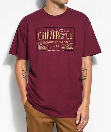Cruizer & Co. Web camiseta en color borgoño