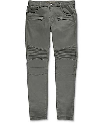 Crysp Denim Jordan Moto Grey Twill Pants