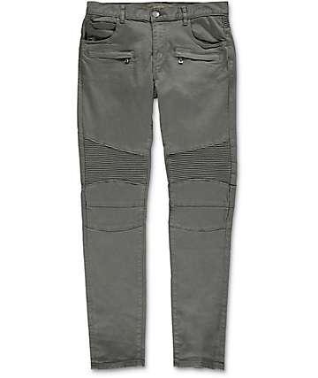 Crysp Denim Jordan Moto pantalones asargados en gris