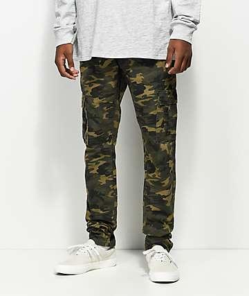 Crysp Denim Mountain Cargo Camo Jeans