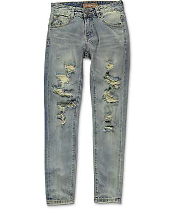 Crysp Denim White & Blue Boys Denim Jeans