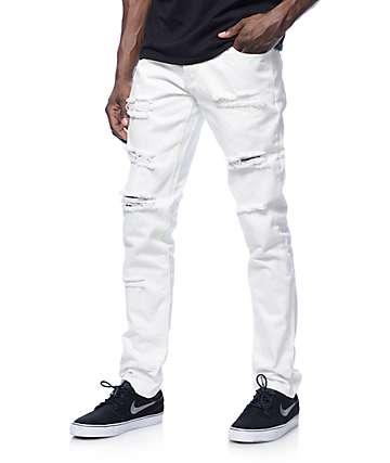 Crysp Ewing jeans blanco desteñidos