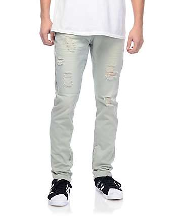 Crysp Fom 2.0 Light Wash Denim Zipper Jogger Pants