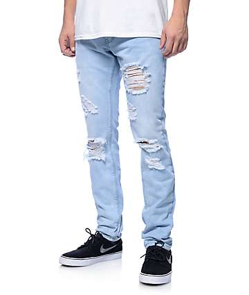Crysp Jones jeans ceñidos azul claro desteñidos