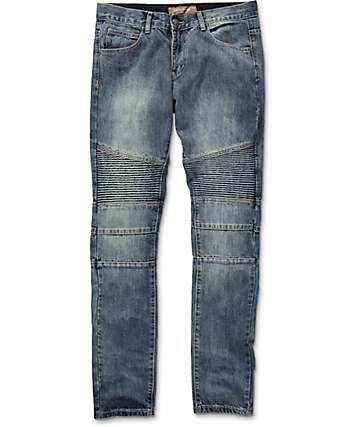 Crysp Jordan Moto Indigo jeans estrechos