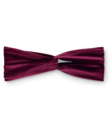 D&Y Burgundy Velvet Twist Headband