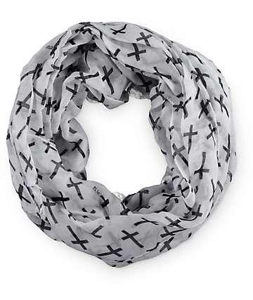 D&Y Cross Print Infinity Scarf