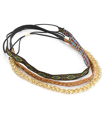 D&Y Tribal Braid Multipack Headwraps