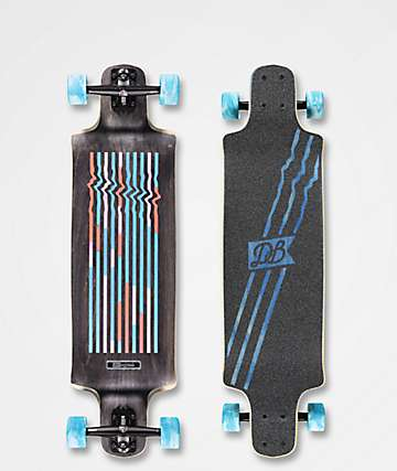 "DB Contra 35.5"" Multi-Striped Drop Down Longboard Complete"