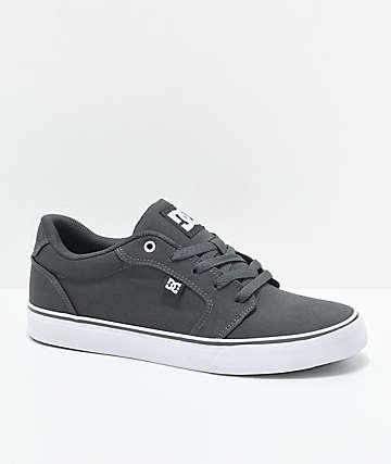 DC Anvil TX Dark Shadow Armor zapatos de skate en gris y blanco