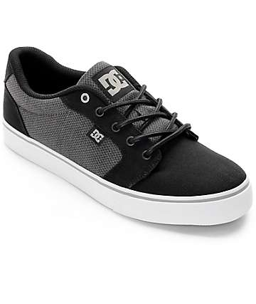 DC Anvil TX SE Black & Grey Shoes