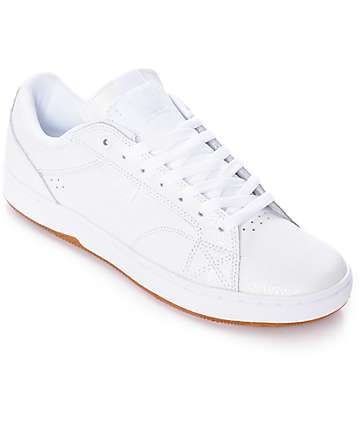 DC Astor White & Gum Nubuck Skate Shoes