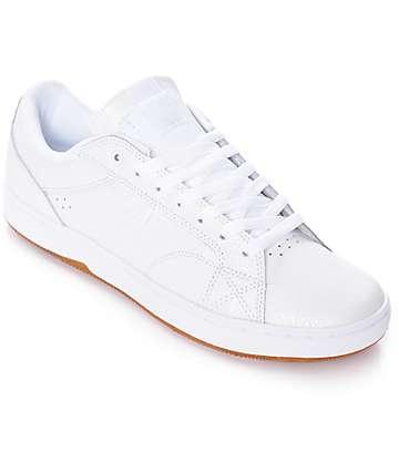DC Astor zapatos de skate en blanco y goma