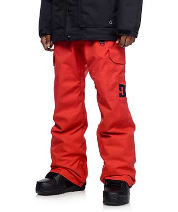 DC Banshee Racing Red Snowboard Pants