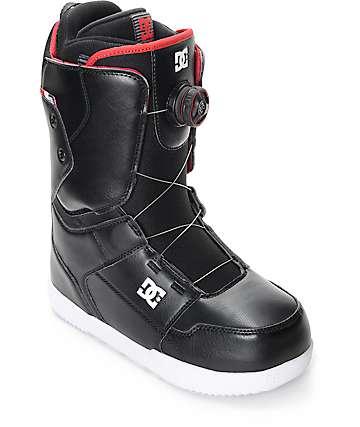 DC Boa botas negras de snowboard