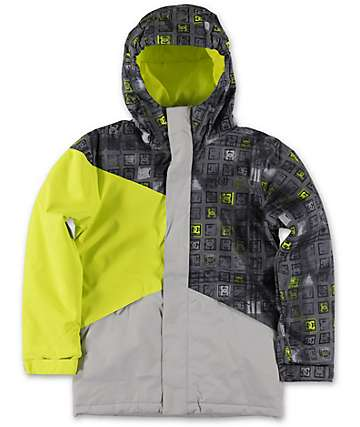 DC Boys Amo 10K 2014 Black Monogram Snowboard Jacket
