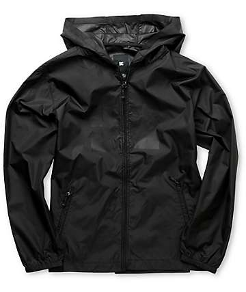 DC Boys Glacier Black Windbreaker Jacket