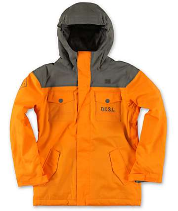 DC Boys Servo 10K Orange 2014 Snowboard Jacket