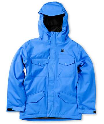 DC Boys Servo K True Blue 10K Snowboarding Jacket 2013