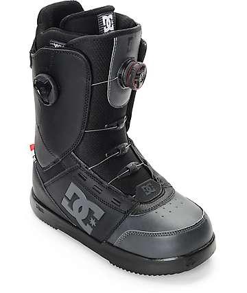 DC Control Boa botas negras de snowboard