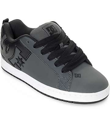 DC Court Graffik Grey & White Skate Shoes
