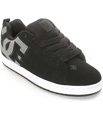 DC Court Graffik SE Black & Dark Used Skate Shoes