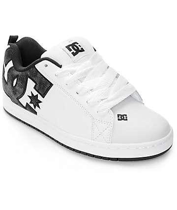 DC Court Graffik SE zapatos de skate en blanco y negro