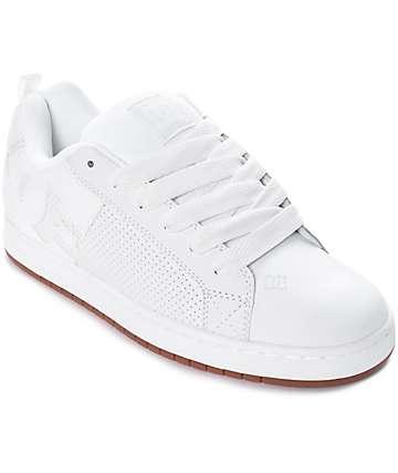 DC Court Graffik zapatos de skate en blanco y goma