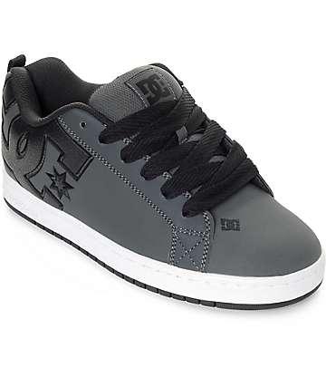 DC Court Graffik zapatos de skate en blanco y gris