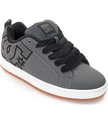 DC Court Graffik zapatos de skate en gris, negro y blanco