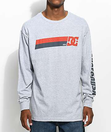 DC Disaster Grey Long Sleeve T-Shirt