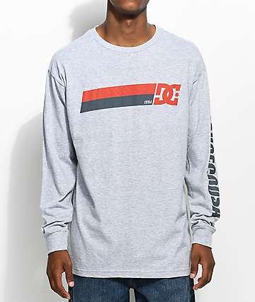DC Disaster camiseta gris de manga larga