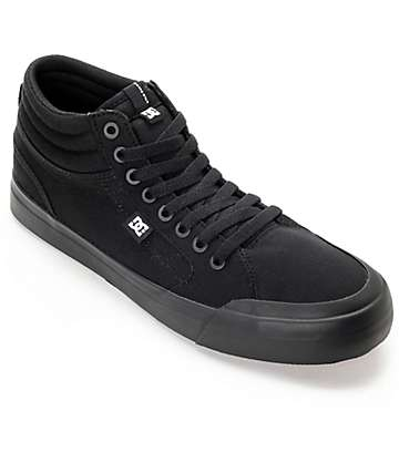 DC Evan Smith Hi All Black Skate Shoes