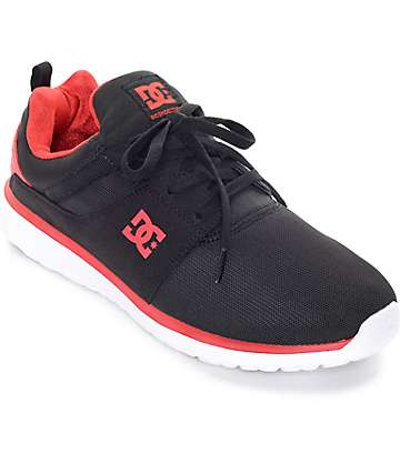 DC Heathrow Black & Red Shoes